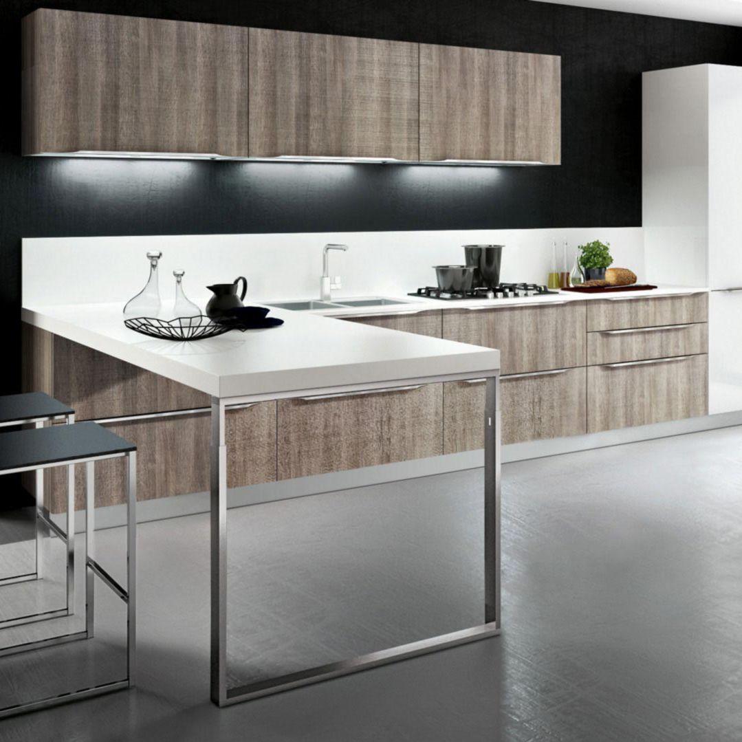 Moderne Küche / Holz / Melamin / L-förmig - YPSILON : COMPOSITION 04 ...