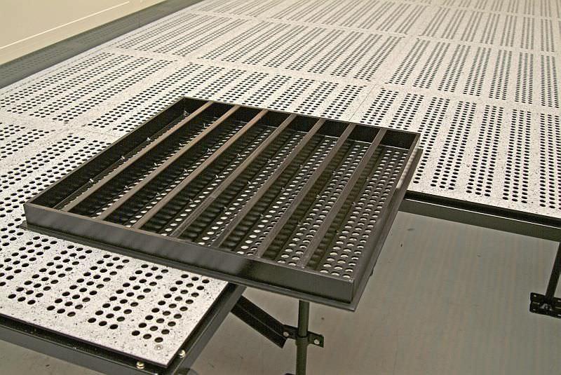 Mero Fußbodenplatten ~ Stahl doppelboden innenraum für reinraum typ mero tsk