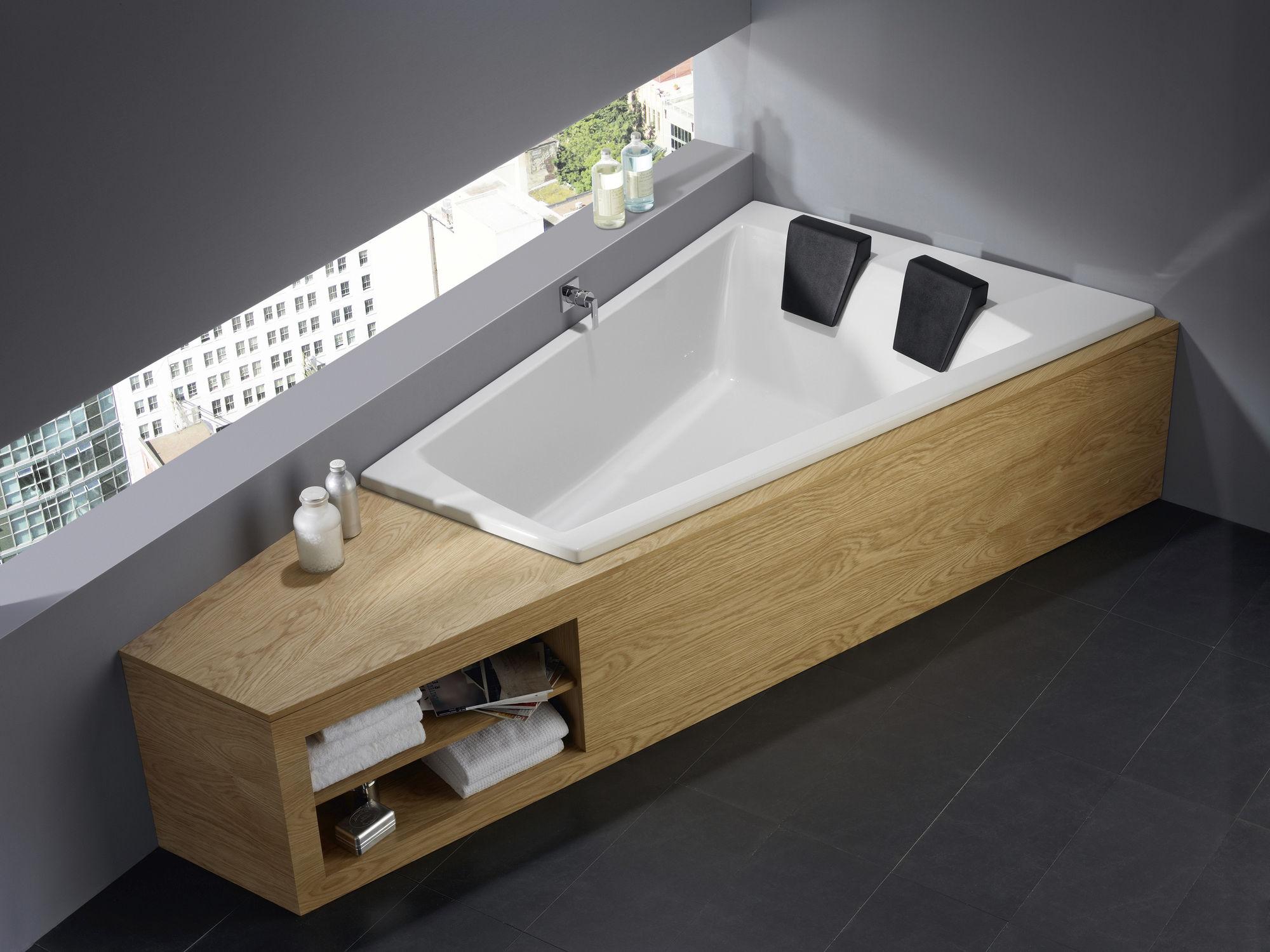 Einbau-Badewanne / für Eckeinbau / aus Acryl - GENF DUO 170/180 ... | {Badewanne einbauen 69}