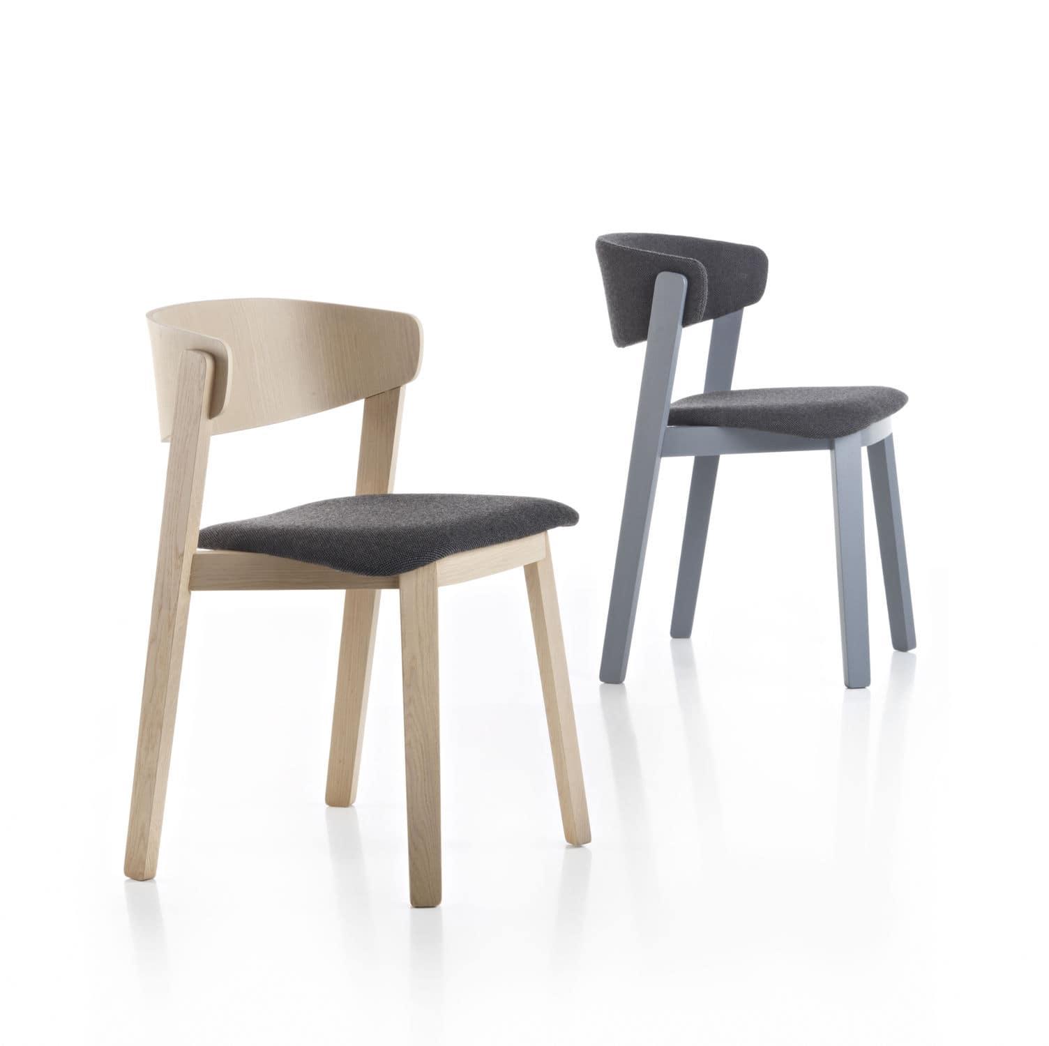 ... Stuhl / Skandinavisches Design / Polster / Mit Armlehnen / Stoff  WOLFGANG Fornasarig