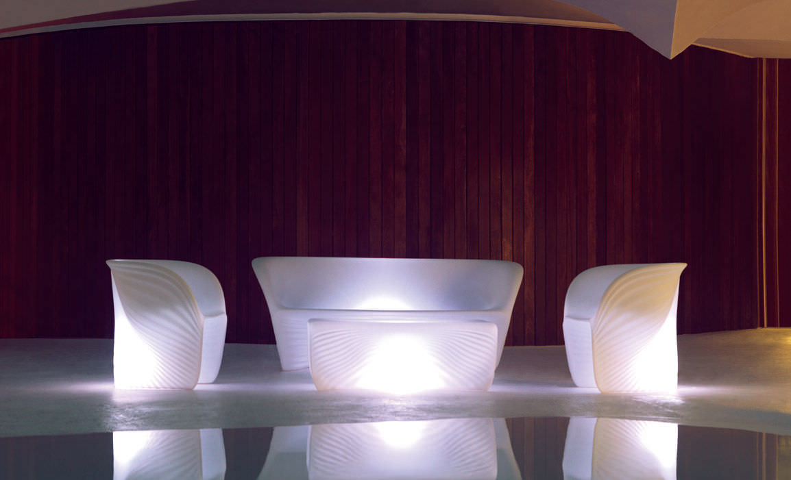 Schön Couchtisch / Organisches Design / Rotationsgesintertes Polyethylen / Oval /  Garten   BIOPHILIA