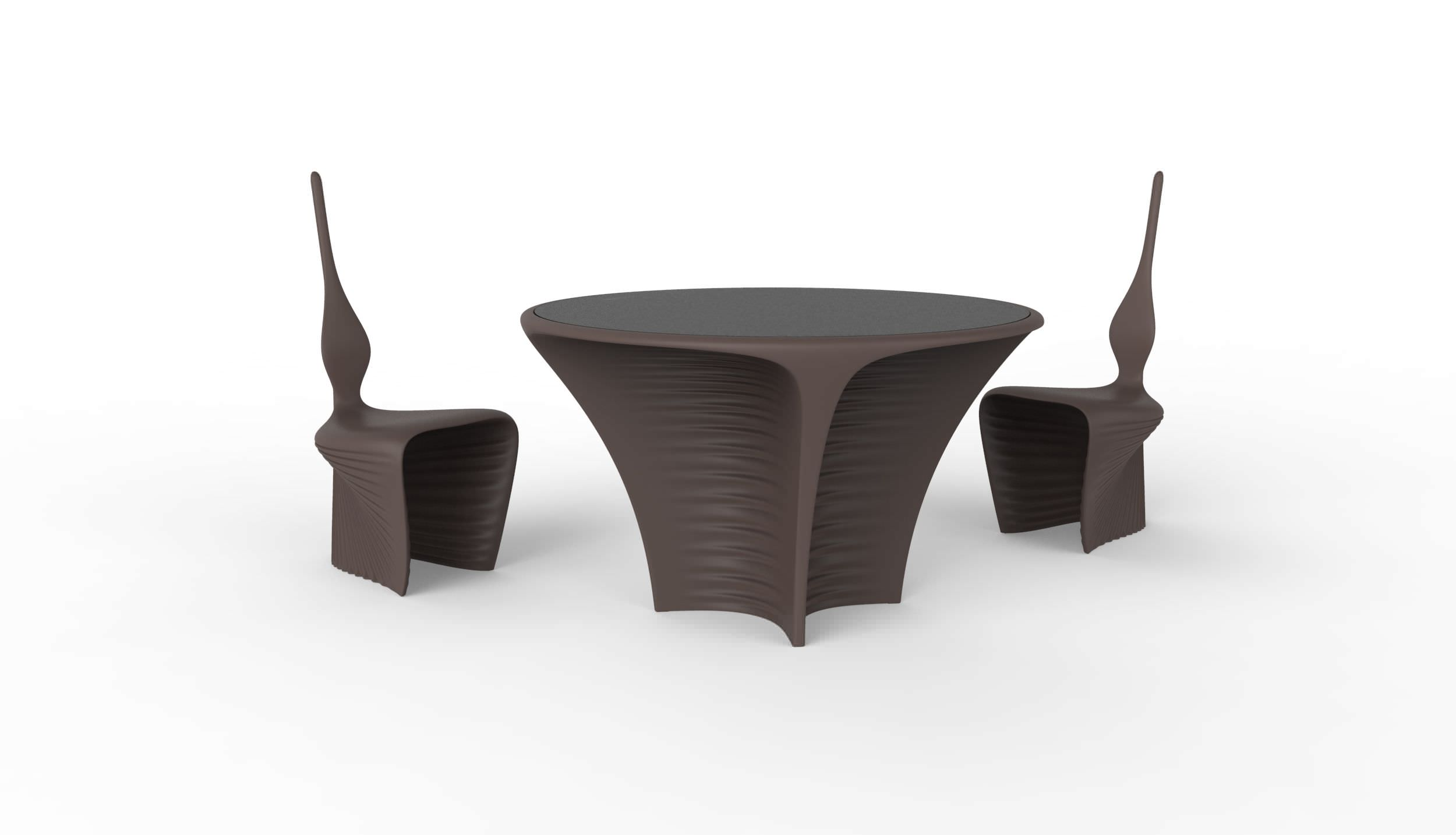 Tisch / Organisches Design / Rotationsgesintertes Polyethylen / Rund /  Garten   BIOPHILIA