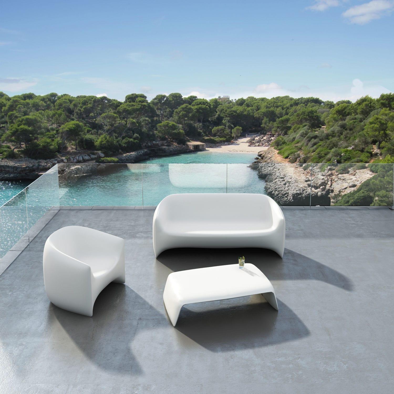 Sofa / originelles Design / für den Garten / Polyethylen / 2 Plätze ...
