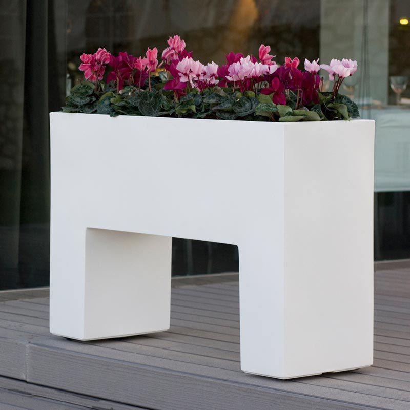 Polyethylen-Pflanzkübel / rechteckig / beleuchtet / modern - MURO ...