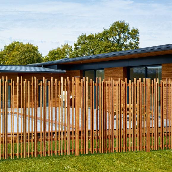 garten zaun, gartenzaun / für grünanlagen / lamellen / holz - durapin - piveteau bois, Design ideen
