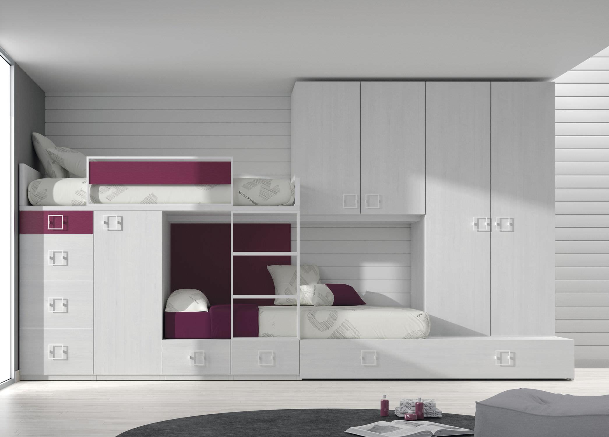 Etagenbett Mit Viel Stauraum : Etagenbett einfach modern mit stauraum touch ros