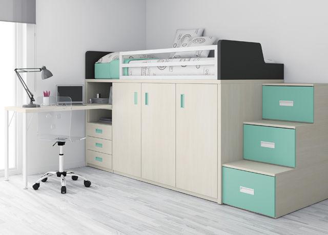 Einzelbett modern  Einzelbett / modern / für Kinder (Jungen und Mächen) / kombiniert ...