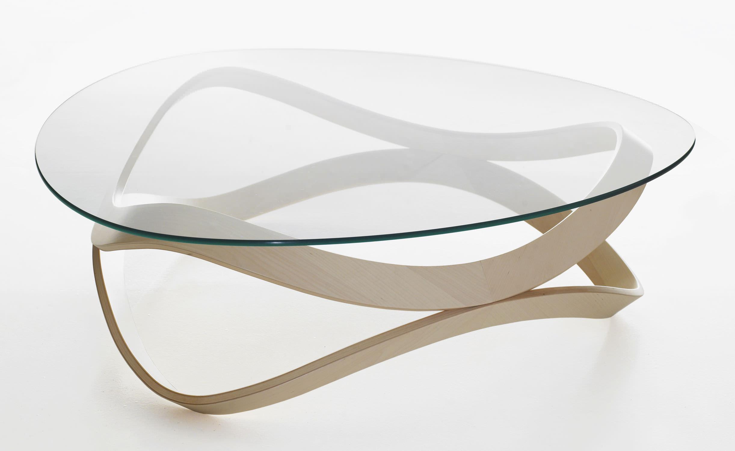 couchtisch / modern / glas / aus eiche - newton by d.sunaga & s ... - Wohnzimmertisch Modern