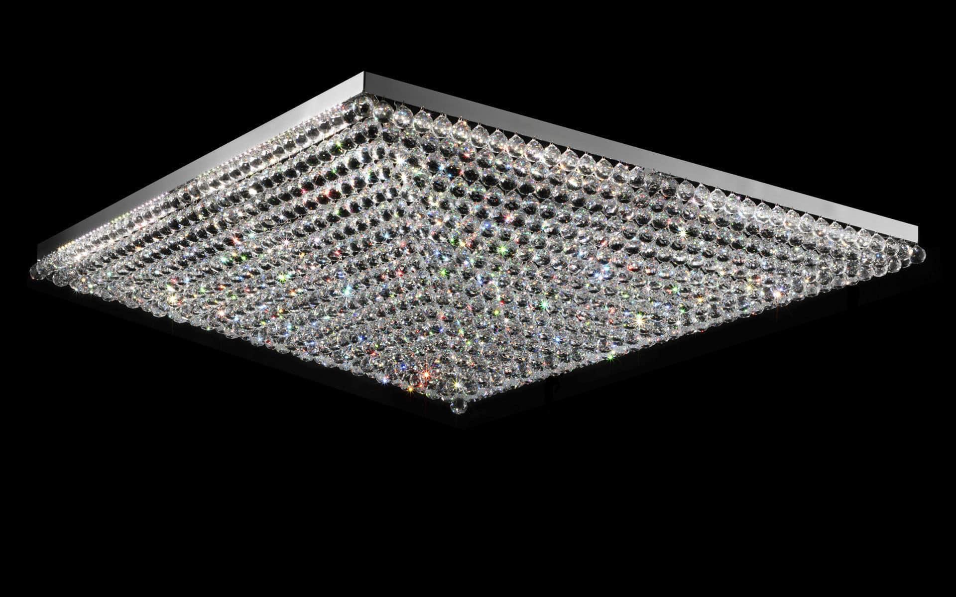 Kristall Deckenleuchte Quadratisch