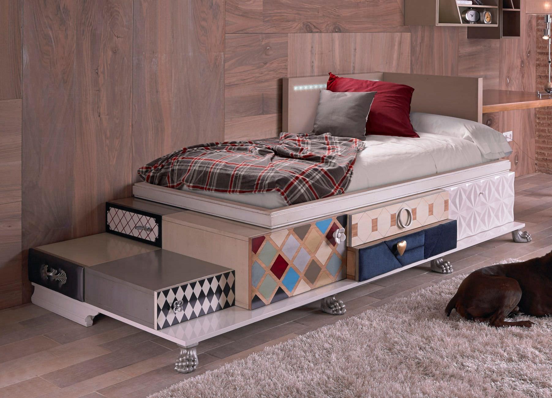 Modernes Bett / Für Kinder (Jungen Und Mächen) / Kombiniert / Holz   TETRIS  0080.T