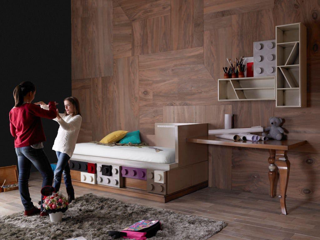 Kombiniertes Bett / Modern / Holz / Für Kinder (jungen Und Mächen, Möbel