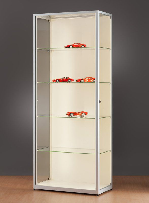 Moderne Vitrine / Glas / Holz / anodisiertes Aluminium - 111 ...