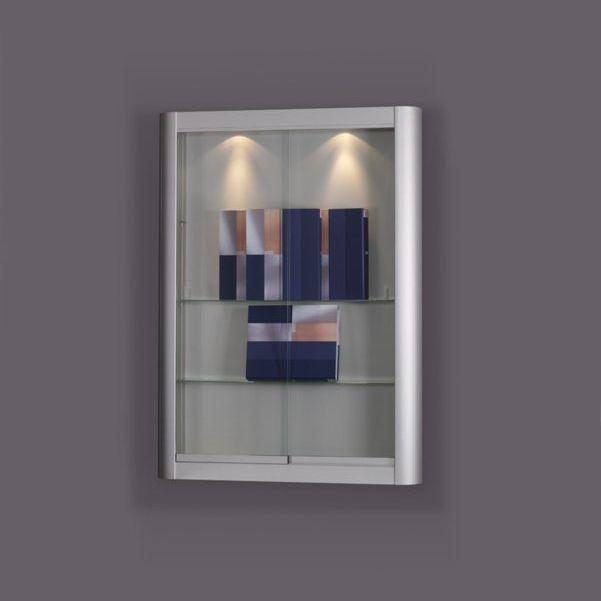Moderne Vitrine / wandmontiert / Glas / Holz - 150 - SDB Vitrinebouw BV