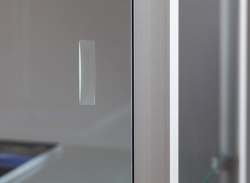 Moderne Vitrine / Glas / Holz / aus anodisiertem Aluminium - 315 ...