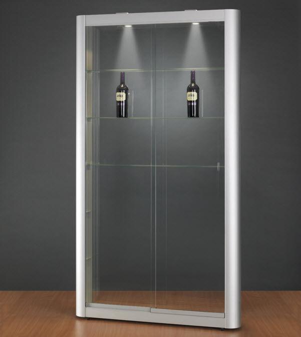 Moderne Vitrine / Glas / Holz / Aluminium - 150 1106 - SDB ...