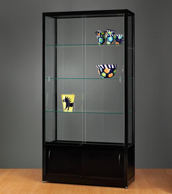 Moderne Vitrine / Glas / Holz / Aluminium - WME 1000 WITH STORAGE ...