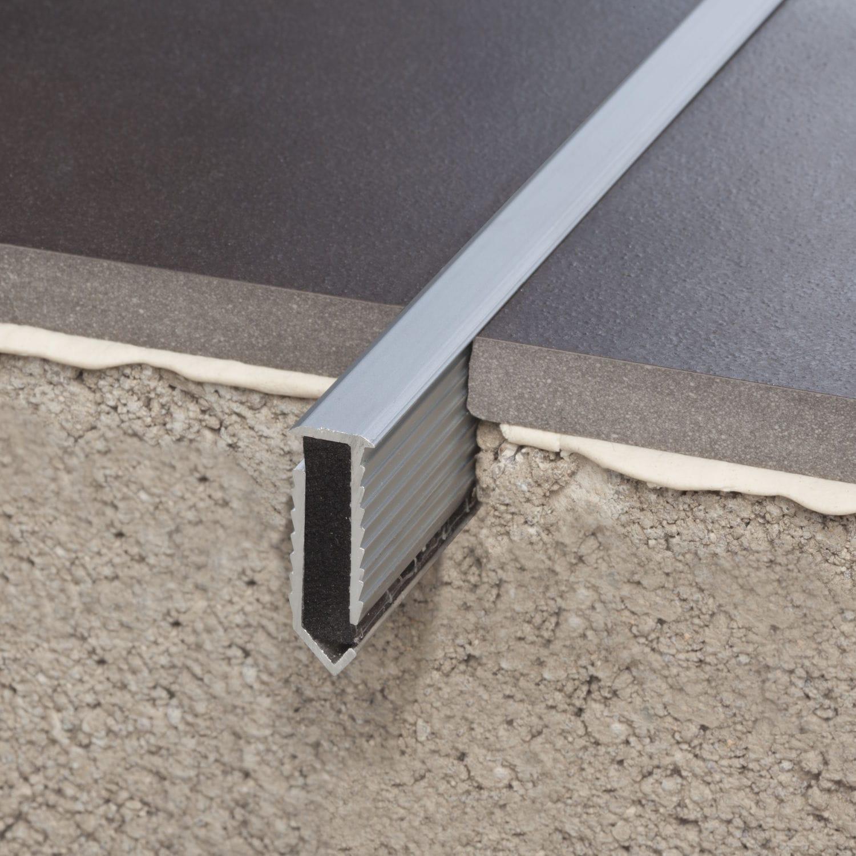 aluminium-dehnungsfuge - novojunta decor® flecha aluminio - emac