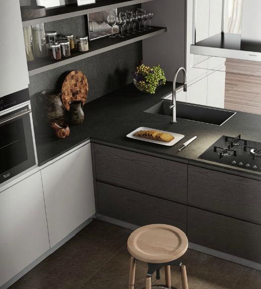 Moderne Küche / Holzfurnier / lackiert - WEGA - Arredo3 s.r.l.
