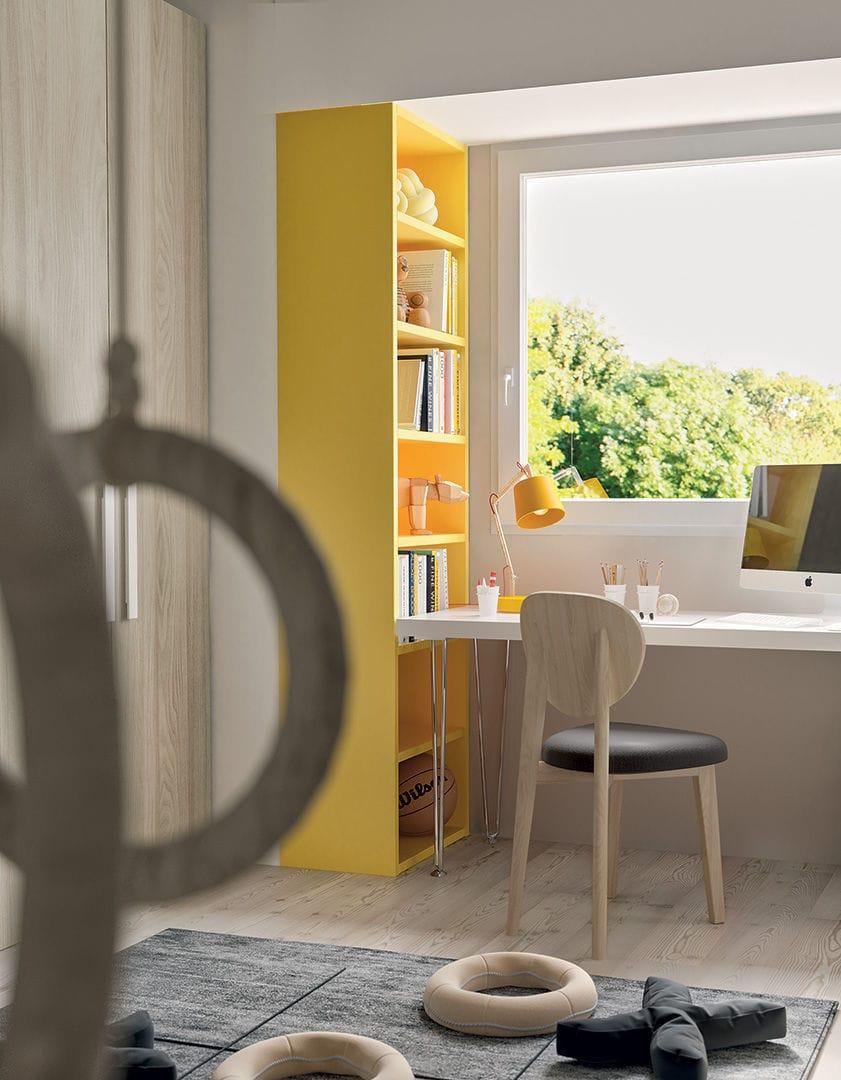 Kinderzimmer Gelb | Weisses Kinderzimmer Gelb Lackiertes Holz Unisex Smile 21