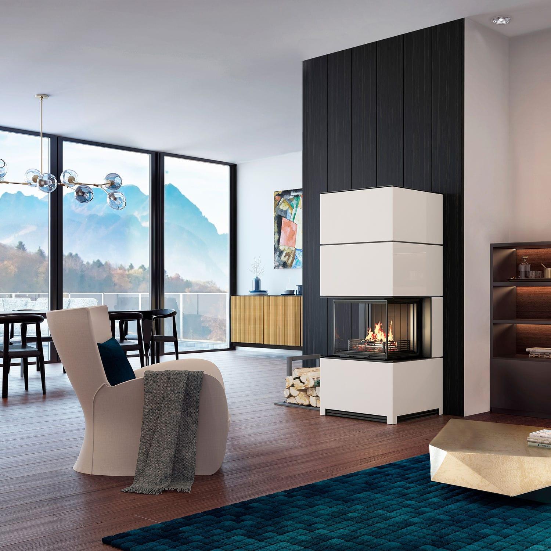 Bemerkenswert Freistehender Kamin Ideen Von Holz-kaminofen / Modern / 3 Sichtseiten /