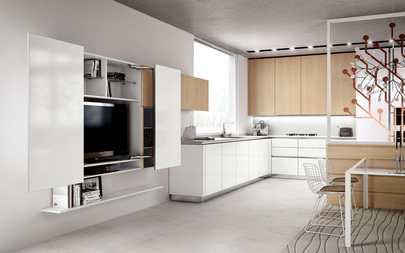 Moderne Küche / Holz / lackiert / ohne Griff - TECNIKA PURA ...