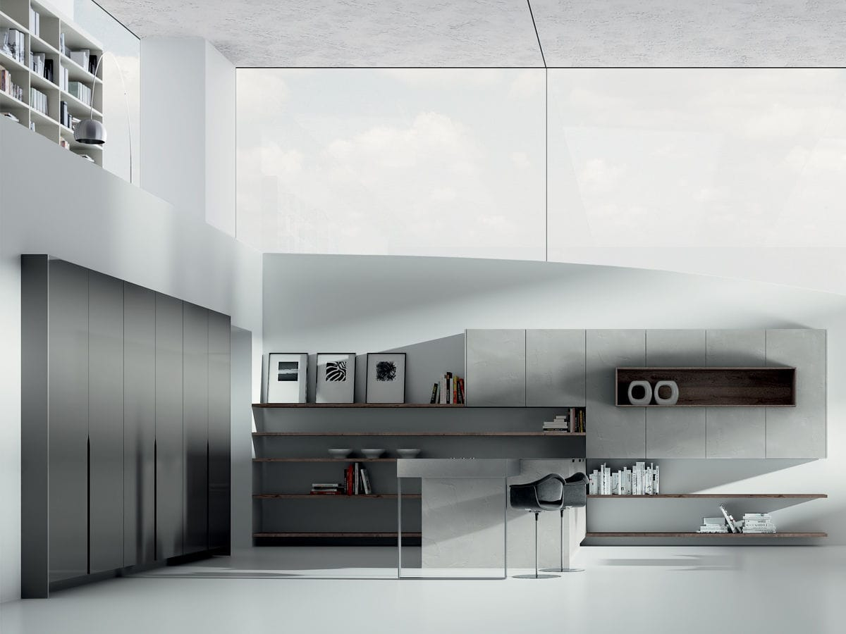 Moderne Küche / Holz / Kochinsel - SIGNUM ONDA - Lineaquattro