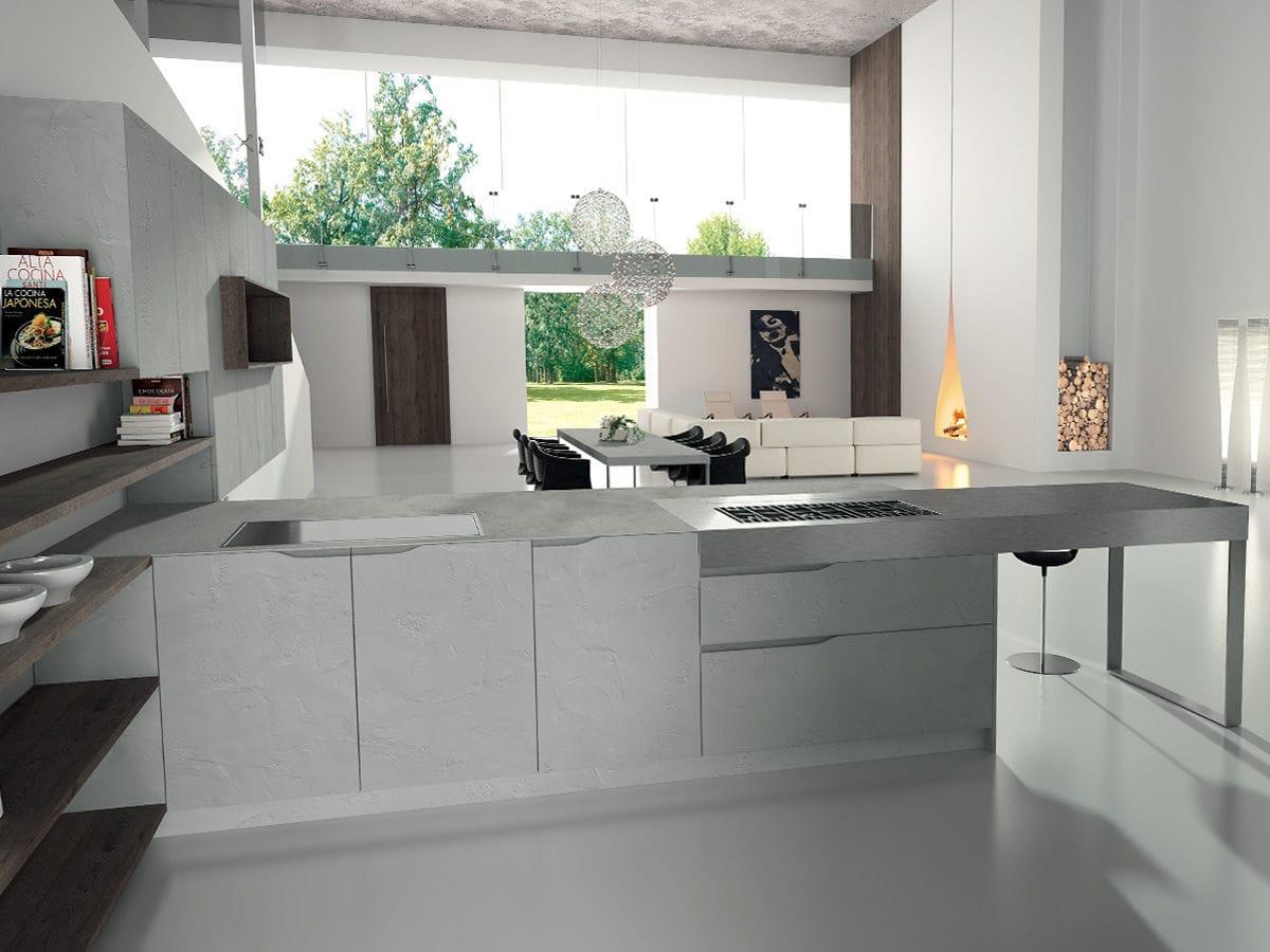Edelstahl-Arbeitsplatte / Küchen - SIGNUM ONDA - Lineaquattro