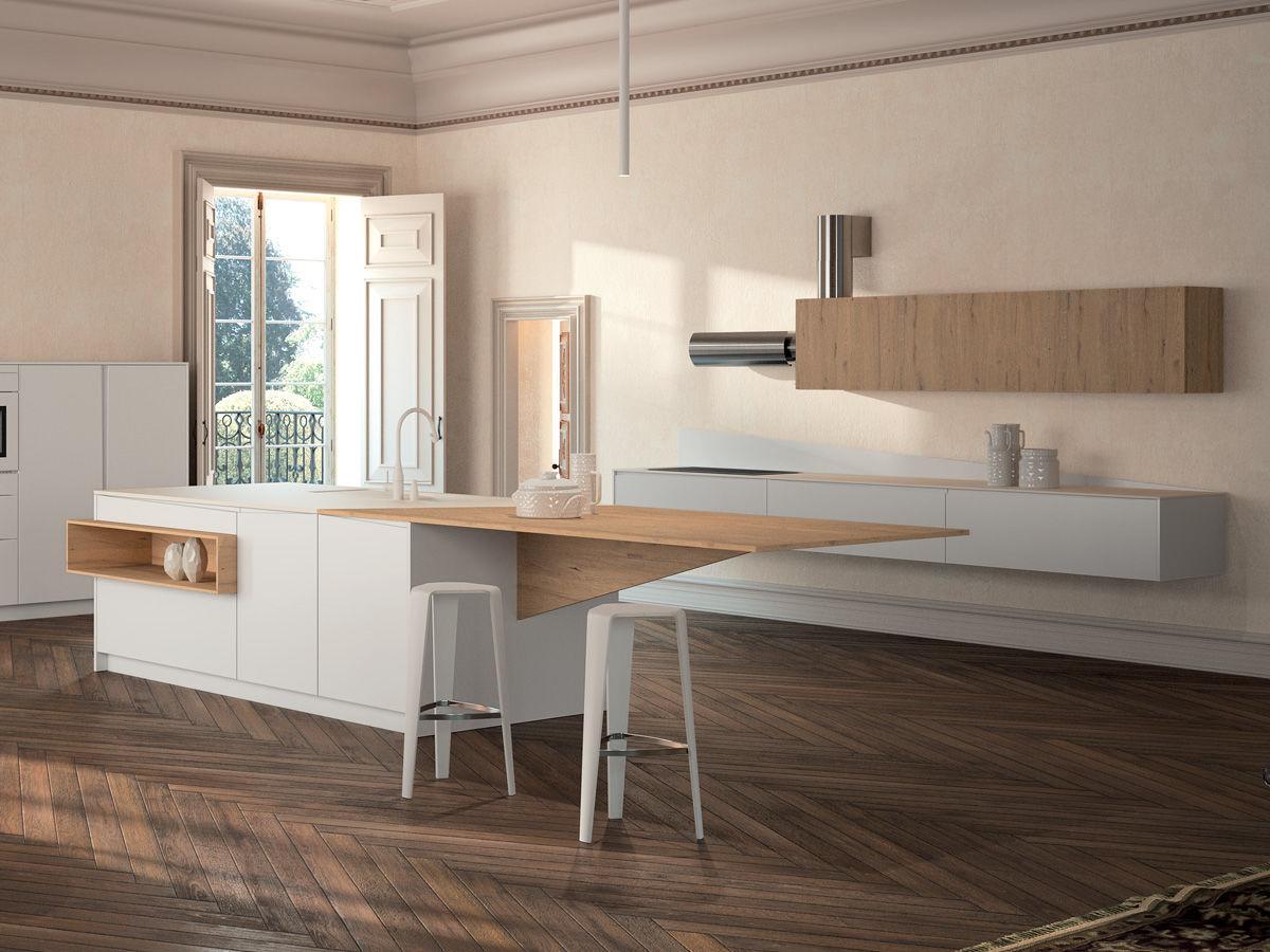 Moderne Küche / Holz / Kochinsel / lackiert - SIGNUM FLAG - Lineaquattro