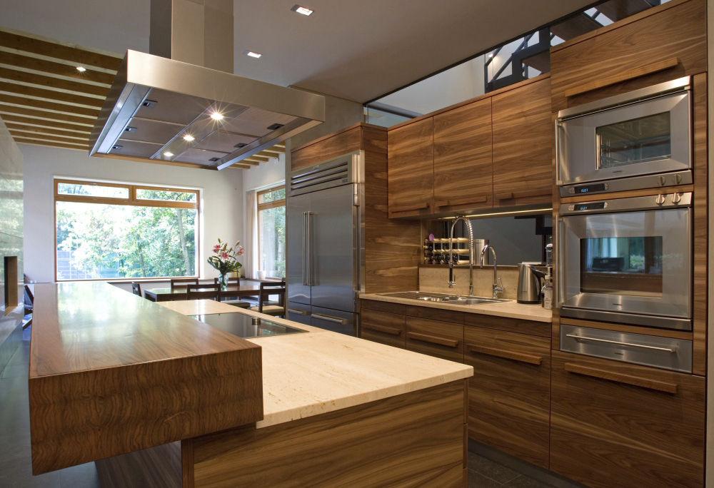 Moderne küche holz  Moderne Küche / Edelstahl / Massivholz / Holz - LUGI