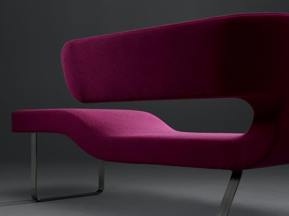Recamiere chaiselongue  Moderne Récamiere / Stoff / Leder - CHAISE-LONGUE by Rene Sulc ...