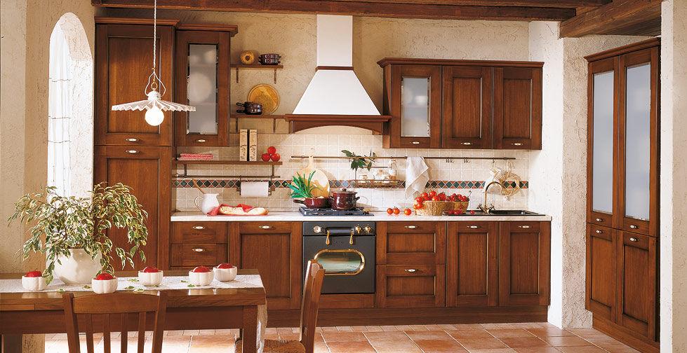 Klassische Küche / Massivholz / Holz / mit Griffen - BORGO ...