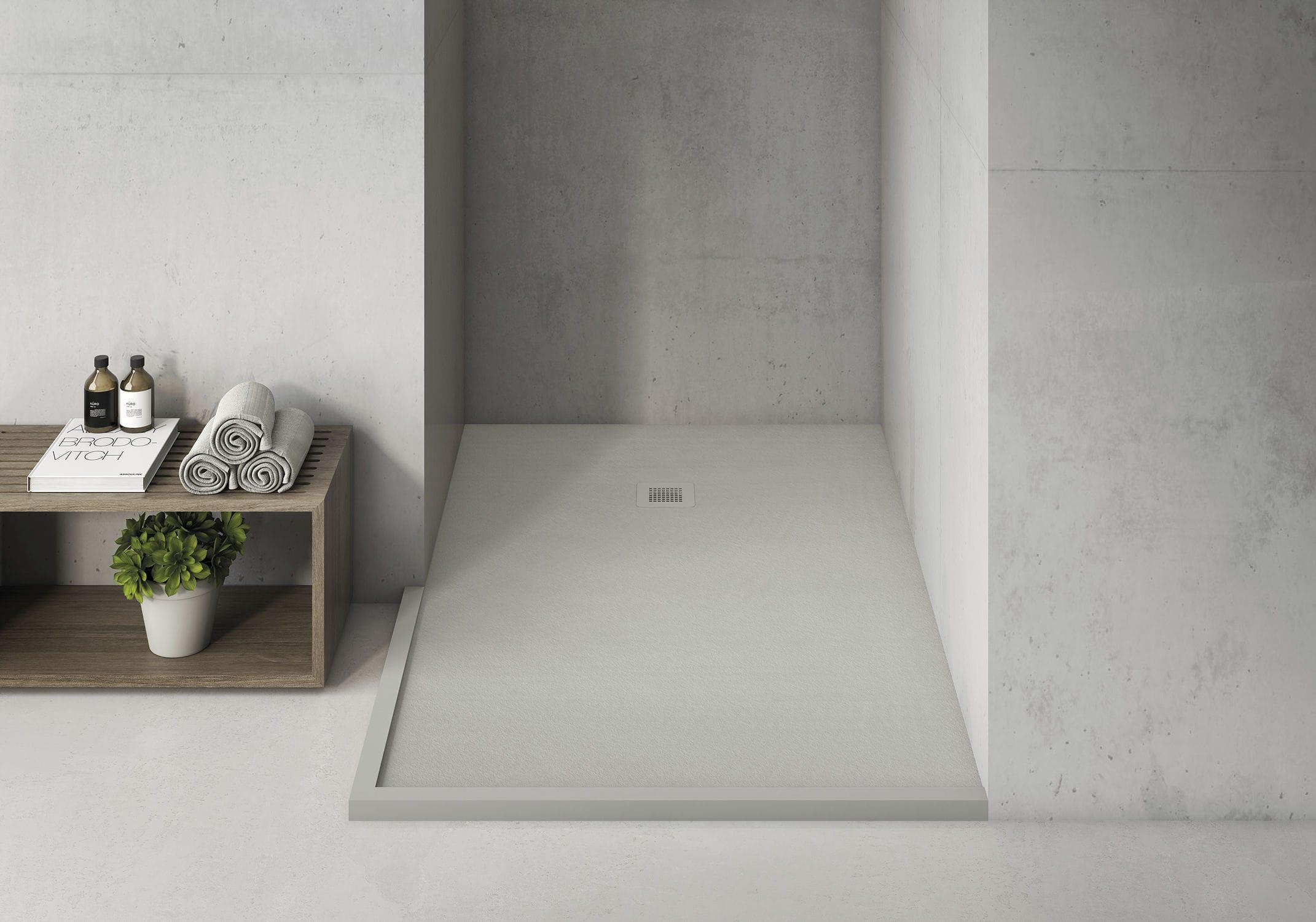 rechteckige duschwanne / aus mineralguss / bodengleich