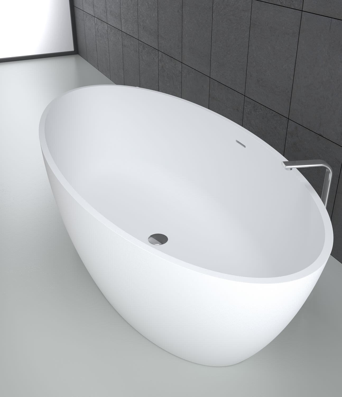 Badewanne Oval Freistehend freistehende badewanne oval mineralwerkstoff wassermassage