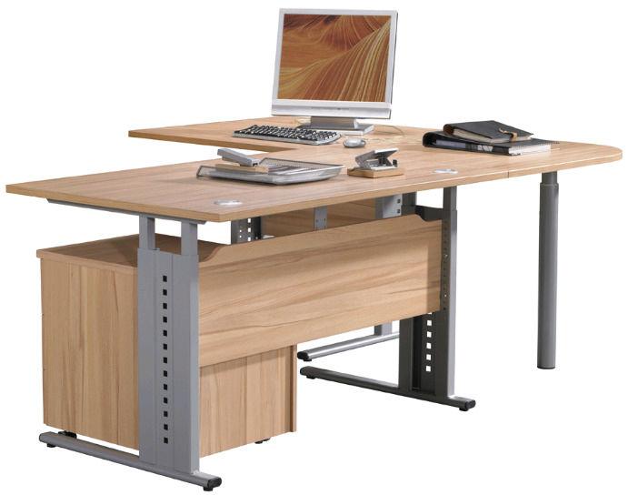 Chefschreibtisch Holz Metall Modern Easy Office Röhr Bush