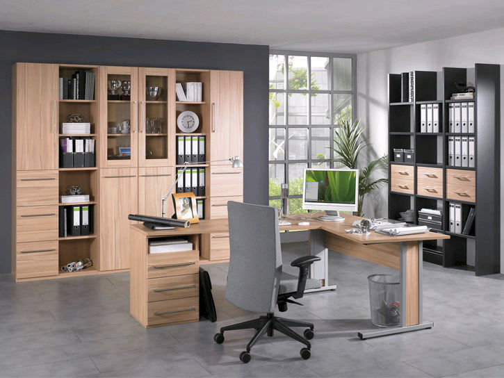 Moderne Bibliothek Fur Buro Holz Easy Office Rohr Bush
