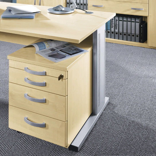 Holz-Büroschubladenschrank / 4-Schubladen / mit Schlüssel - TECHNO ...