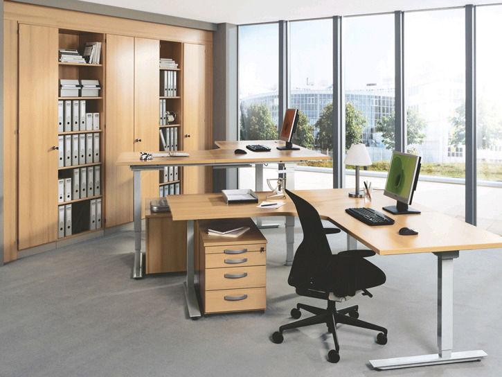 Holz-Schreibtisch / modern / Gewerbe / höhenverstellbar - TECHNO ...