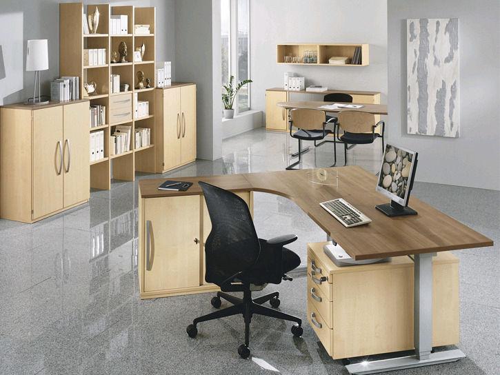 Chefschreibtisch / Holz / Metall / modern - TECHNO - RÖHR-Bush
