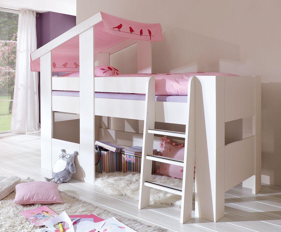 Etagenbett Mädchen : Hochbett modern für kinder mädchen cosy rÖhr bush