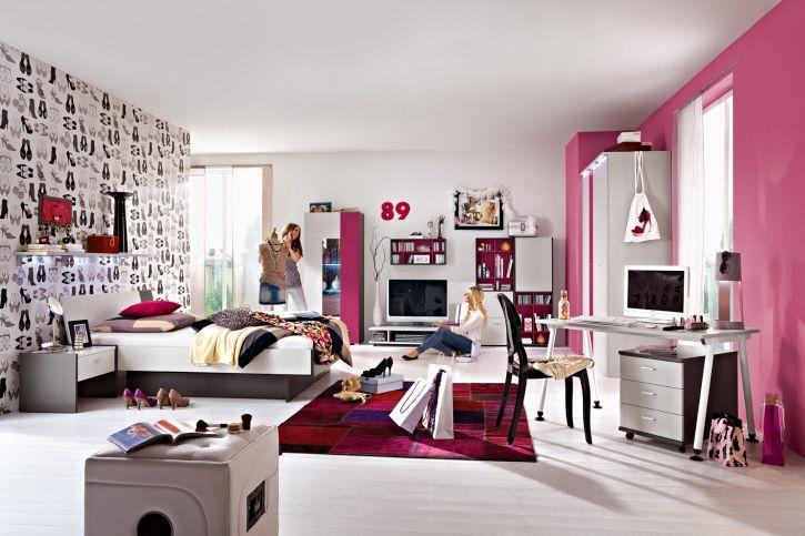Jugendzimmer mädchen modern weiß grau  Weißes Kinderzimmer / für Mädchen - IT´S.CULT - RÖHR-Bush