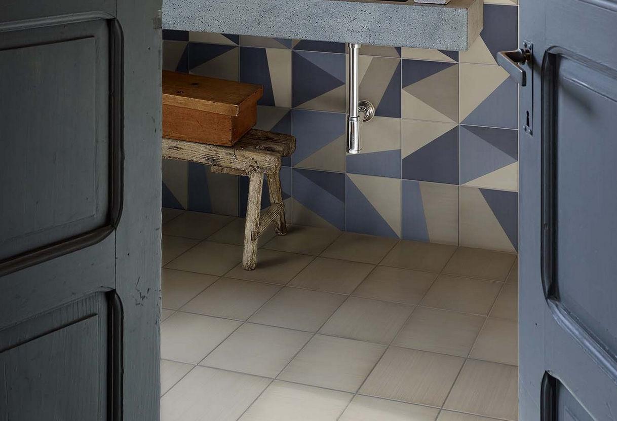 Fliesen für Badezimmer / für Böden / Keramik / mit geometrischem ...