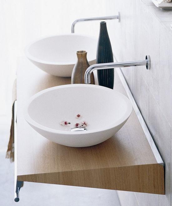 Waschbecken rund  Aufsatzwaschbecken / rund / Keramik / modern - CONCERT: RONDO ...