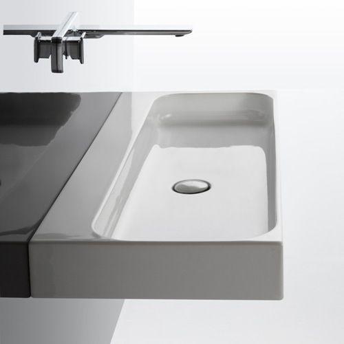 Wand Waschbecken Rechteckig Keramik Modern Unit 120 Ws
