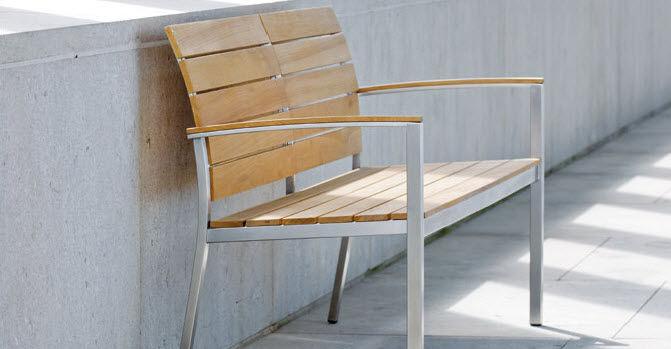 Gartenbank modern holz  Gartenbank / modern / Holz / Rückenlehnen - SAVONA - STERN MOEBEL