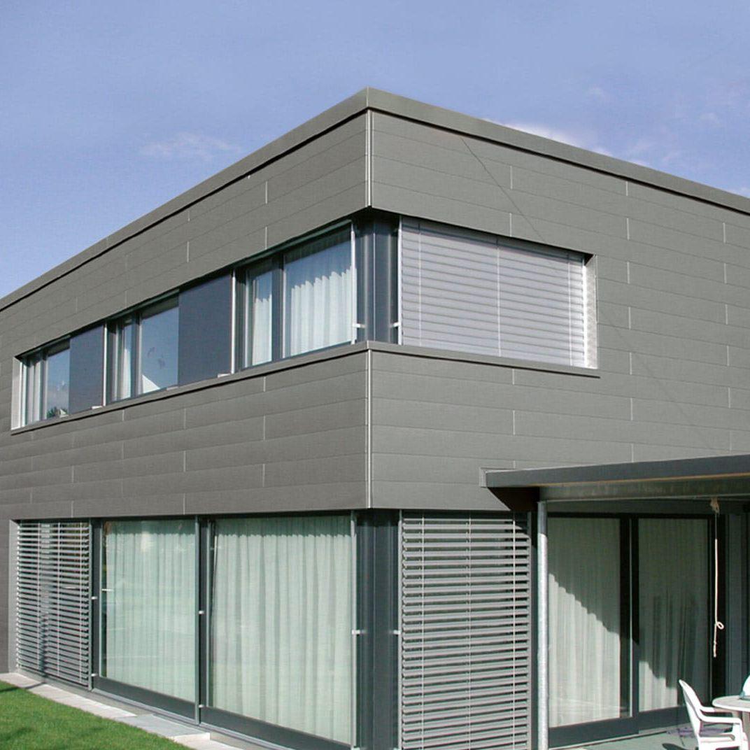 Fassadenverkleidung Aus Aluminium Glatt Geriffelt Platten