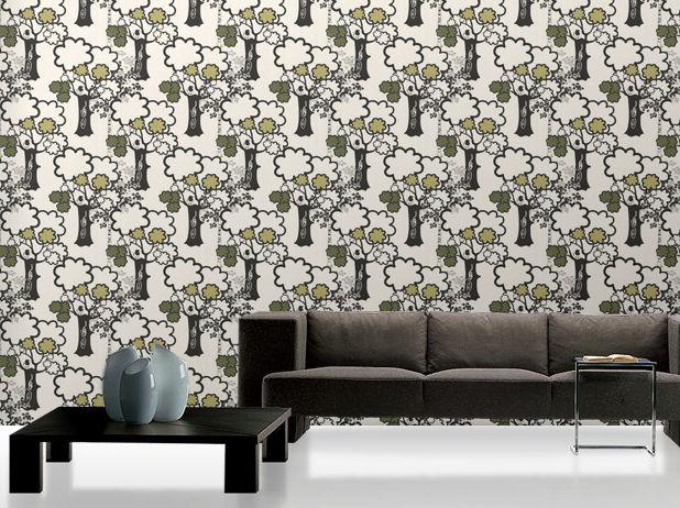 Klassische Tapete / Blumenmuster / Vlies - SAGA: 2410 - Decor Maison