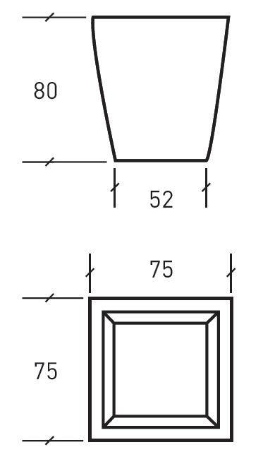 Metall-Pflanzkübel / Beton / quadratisch / modern - TULIPE - Sitinao