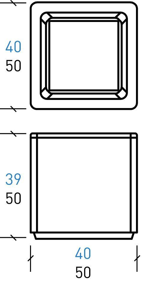 Stein-Pflanzkübel / quadratisch / modern / für öffentliche Bereiche ...