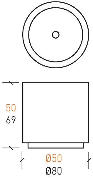 Stein-Pflanzkübel / rund / modern / für öffentliche Bereiche - Sitinao