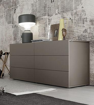 Kommode modern grau  Moderne Kommode / Holz / lackiertes Holz / grau - LASER - Le Monde ...